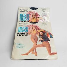 Vintage 70s NEW IN PACKAGE HUSH HUSH Panti Hose Super Stretch S.M.L. Navy Blue