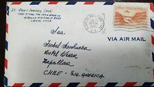 O) 1955 CANAL ZONE, GAILLARD CUT SCT C9 10c orange, ALBROOK AIR FORCE- BASE C.Z.