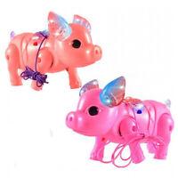 Electric Pets Leash Pig Mini Match Pig Kids Educational Toy Running Lights Music