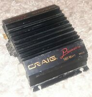 Old School Craig Powerplay MA210 2 Channel Amplifier car stereo amp 160 watt VTG