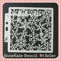 "Stencil - CHRISTMAS SNOWFLAKES - 5"" x 5"" - Crafting - Scrapbooking - Cardmaking"