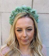 Comme neuf Green Carnation Flower Headband Hair Crown Band Festival Garland Rose 5548