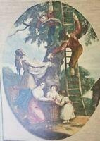 Rare Antique Color Stipple Engraving October By Francesco Bartolozzi A. R.Sculp