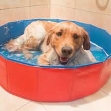 AU_ Indoor Outdoor Foldable Pet Dog Swimming Pool Bath Tub Cat Dog Puppy Kids Sh