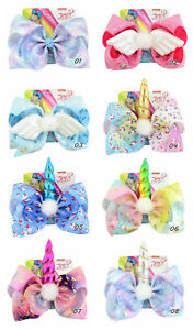 JoJo Siwa Hair Bow With Alligator Clip Girl Kids Bowknot 8inch Girls Gifts