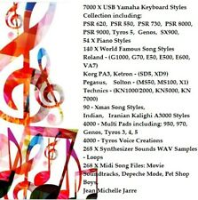 More details for yamaha usb styles collection,  multi pads, voices, synth samples, midi songs