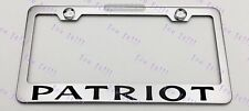 Jeep PATRIOT Stainless Steel License Plate Frame Rust Free W/ Bolt Caps