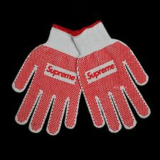 NWT Supreme Red Box Logo Rubber Grip Stretch Knit Work Gloves SS18 DS AUTHENTIC