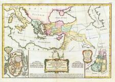 1783 Carte Regions Nouveau Testament  MAP NEW TESTAMENT Holy Land Jerusalem (JM)