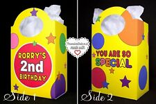 Personalised Mr Tumble Party Loot Bags Favour Treat Gift Boxes Cbeebies Toddler
