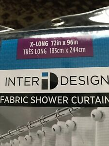 Extra Long Shower Curtain 96in