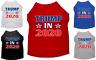 Trump In 2020 New pet Dog shirts Screen Print Dog Shirt XS_3XL
