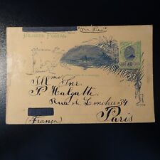 BRASIL ENTERO POSTAL CARTA COVER FORTALYA 1901 -> PARIS FRANCIA