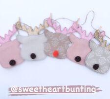 Bunting Susie Watson Reindeers Handmade Dresser,Mantle Shelf, Xmas