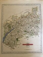 1793 engraved map of 'Gloucestershire' by Cary, with hand colour