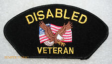 DISABLED VETERAN HAT PATCH US ARMY MARINES NAVY USCG AIR FORCE EAGLE GIFT WOW