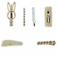 Pearl Hair ClipsPearl Hair Clips for Women Pins Big Hair Styling Clips