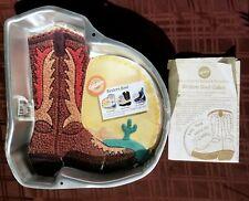 Vintage 1995 Wilton Western Boot Cake Pan 2105-1238 Cowboy Roller Skater Mold