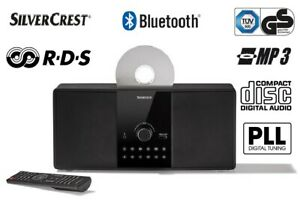 Bluetooth Kompakt Stereoanlage SILVERCREST CD RMS USB FM-Radio Musik-Streaming