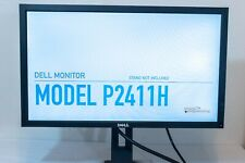 "Dell 24"" Monitor 1920x1080 P2411H 2411Hb w/ Power, VGA, DVI cables 
