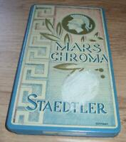 Alte Staedler Mars Chroma Stifte in Blechdose