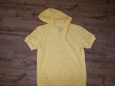 Women's Cato Yellow  Hoodie  - S - Front Zipper