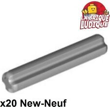 Lego Technic- 20x Axe Axle 3 gris clair/light bluish gray 4519 NEUF