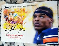 CAM NEWTON 2011 SAGE HIT The Write Stuff Rookie Card RC Carolina Panthers Auburn