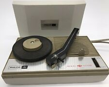 RARE Philco 45 RPM-LP Record Player - Vintage Hand Held Portable Player S-1369
