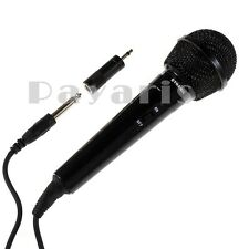 Uni Directional Karaoke Microphone & Extra Adapter Portable Audio Multimedia Mic