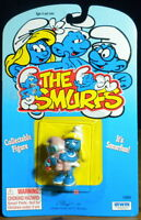 Smurfs Smurfette with Baby Smurf 20192 Vintage Figure Toy PVC Figurine Lot Peyo