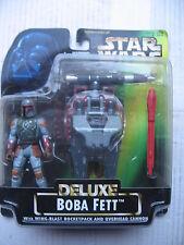 1/18 3.3/4 10cm STAR WARS BLISTER DELUXE BOBBA FETT WING BLASTER ROCKET PACK