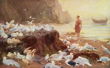 BRITON RIVIERE 1887 Oil Painting AN OLD WORLD WANDERER Vintage 1930 Book Print