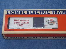 1986 Lionel 6-7525 Toy Fair Box Car NIB L1528