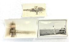 Lot of 3 Antique RARE Photos of Laredo TX in 1920s; Oil Rig; Autos