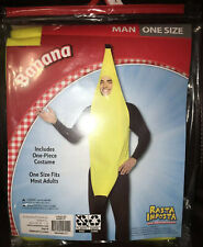 NEW Lightweight Banana Costume Yellow Men's One Size Fits Most By Rasta Imposta