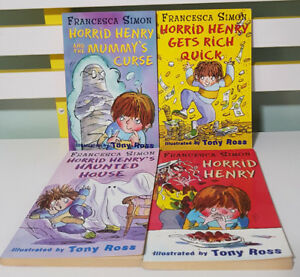 SET OF 4X HORRID HENRY BOOKS BY FRANCESCA SIMON! ILLUSTRATED BY TONY ROSS!