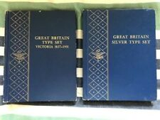 Great Britain Whitman Victoria Type & Silver Type Partial Sets Crown Florin etc.
