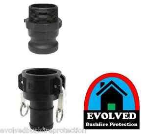 "2"" inch BSP Camlock Set | Type C F | Poly/Glass | 50mm | Fire Pump Tank hose"