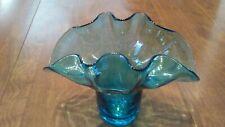 Blue Glass decorative flower vase