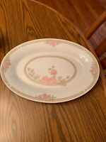 Crown Ming Fine China Jian Shiang Christina Pattern 14'' Platter Pink Floral