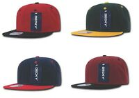 Two Tone Snapback Flat Bill Hat Panel Baseball Hat Cap