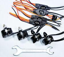4PCS 2204 2300KV Brushless Motor CW&CCW and 4pcs SimonK 12A ESC Speed Controlle