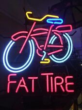 "New Red Fat Tire Belgian Beer Bar Neon Light Sign 24""x20"""