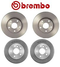 For Toyota Solara SE Camry Brembo Set Front Disc Rotors and Rear Drums Brake Kit