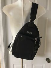 TUMI Voyageur Brive Nylon Leather Sling Backpack Bag One Shoulder Strap $270