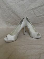 Calvin Klein Cora Recolor Satin White, Women's Shoes, Size 9M