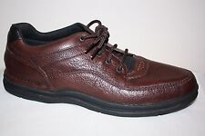 Mens Rockport Prowalker Walking Shoe MWT11M Brown Leather LACE UP Casual SZ 16 M