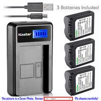 Kastar Battery LCD Charger for Panasonic CGA-S006 & Panasonic Lumix DMC-FZ35