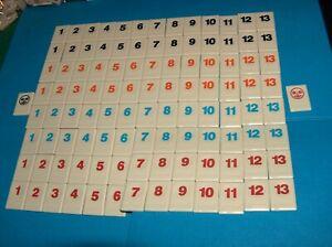 Rummikub Replacement Tiles Full Set ~ 106 Tiles - Orange Red Blue Black